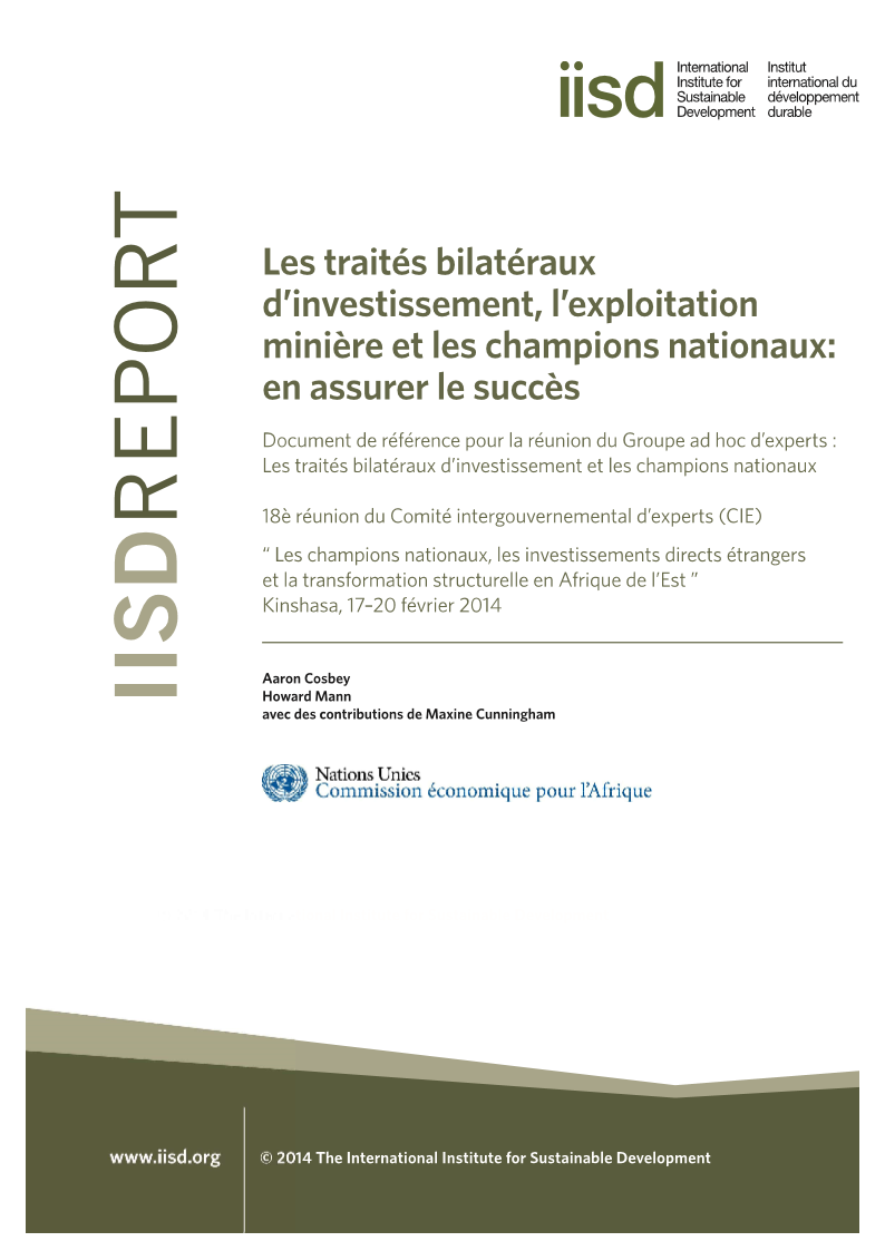bilateral investment treaties mining national uneca fr